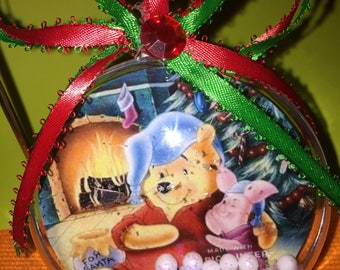 Winnie and piglet themed ornament