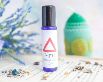 Fire Perfume and Anointing Oil - Wicca Perfume - Magic - Boho Perfume - Perfume Oil - Fragrance Oil - Elemental Perfume