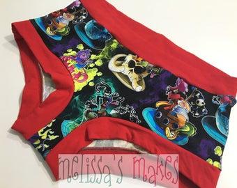L Villains Undies - Underwear - Scrundies - Womens Underwear - Womens Panties - Boy Shorts - Womens Undies - Size Large - Scrundlewear