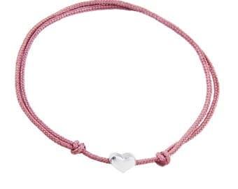 GiNA handmade sterling silver & string bracelet