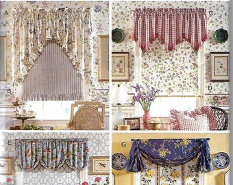 Butterick 3785 Waverly Valance And Window Shade Pattern, Window Covering, UNCUT