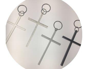 Parlour Resin Holy Cross Resin Keychain