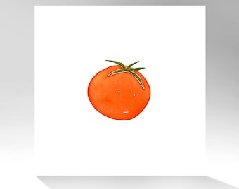 Archival Quality Print of Original Watercolor Painting / Tomato