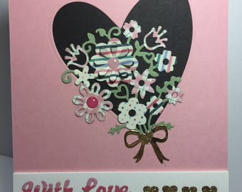 With Love Valentine's Bouquet Card