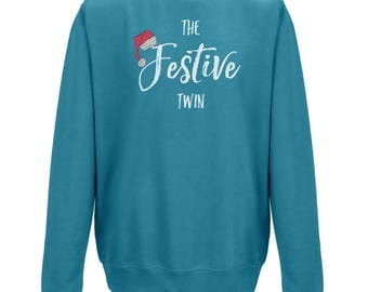 The FESTIVE TWIN JUMPER - Perfect Christmas Gift for Your Twin