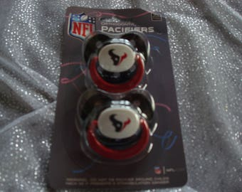 Houston Texans NFL Team Baby Pacifiers; NFL Gifts for new mom to be; Baby Shower Gifts; It's A Boy Houston Texans Pacifier Set; baby gifts