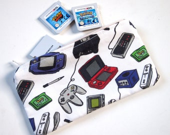 retro gaming mini zip pouch
