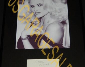 Anna Nicole Smith Framed Autograph ( JSA )