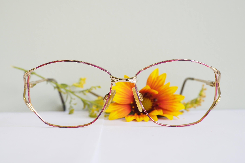 Vintage Glasses 1990\'s Over Size Frames Multi Color Enamel Enamel ...