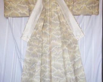 Tsumugi  SILK Kimono#30