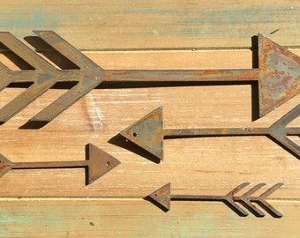 "Boho Arrow - 6"" Rusty, Rustic Metal ARROW! Make your own Sign, Gift, Art!"