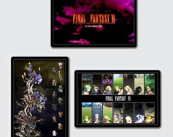 Video Game Art Print - 3 Final Fantasy VI Art Print Super Pack