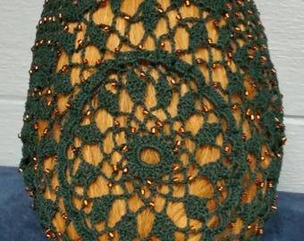 "Wheat Cluster Beaded Snood - Beaded on every row -10"" Regular Length"