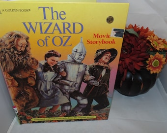 Vintage 1989 The Wizard of oz  Movie Storybook Illustrated Full Color stills from the movie Golden Book