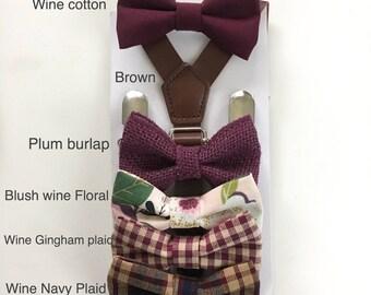 Wine Bowtie Burgundy bow ties for boys Kid baby toddler Men Adult Pets Maroon Plaid Groom Neck tie Groomsmen Wedding Bowtie Ring bearer gift