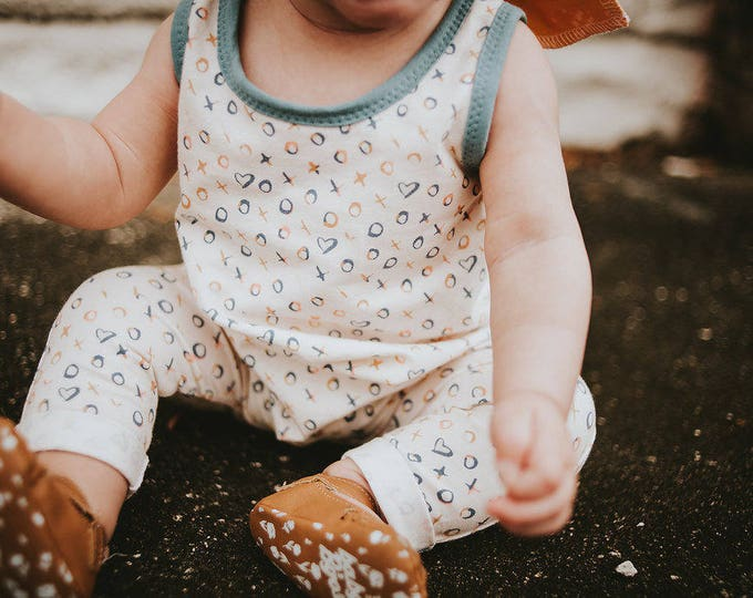 "Featured listing image: Bohemian Babies ""With Love"" Romper"