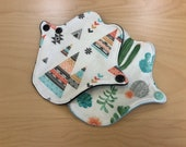 Lip liners - set of two washable cloth pantyliners, thong liners