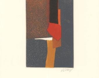 Bertrand Dorny-Untitled I-1974 Etching-SIGNED