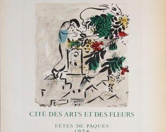 Marc Chagall-Vence-1959 Mourlot Lithograph