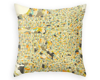 SAN FRANCISCO MAP, Throw pillow for your home decor (ivory version)