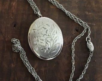 Vintage Sterling locket necklace