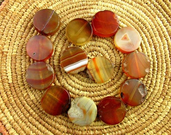 Antique German Carnelian and Agate Beads