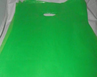 On Sale 9 x 12 Lime Green Merchandise bags 50 pack Low Density Plastic Retail Merchandise Gift Bags