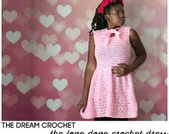 The  Love Dove Crochet Dress Pattern. Instant Download!