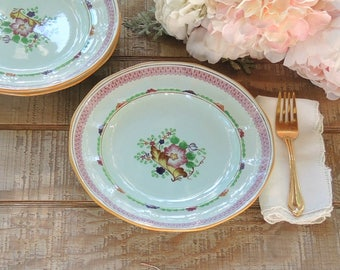 """Vintage Adams Calyx Ware Carolynn Luncheon Plate Ironstone 9"""" Dinner Plate Listing is for ONE Plate Only"""