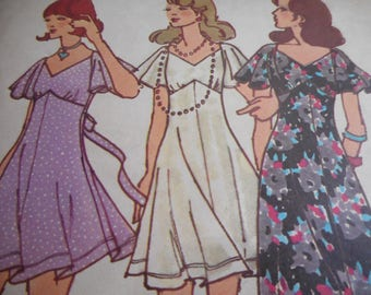 Vintage 1970's Butterick 6976 Betsey Johnson Dress Sewing Pattern Size 14 Bust 36