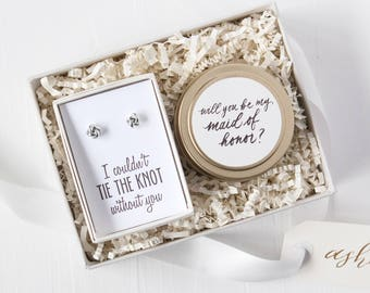 Bridesmaid Proposal Gift Set, Bridesmaid Proposal Idea, Be My Bridesmaid, Maid of Honor Gift, Personalized Bridal Party Gift Boxes,Proposals