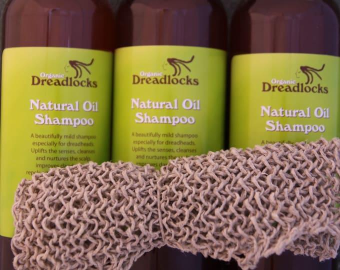 3 x Organic 100% Natural Oil Liquid Dread Shampoo + FREE Hemp Wash Cloth