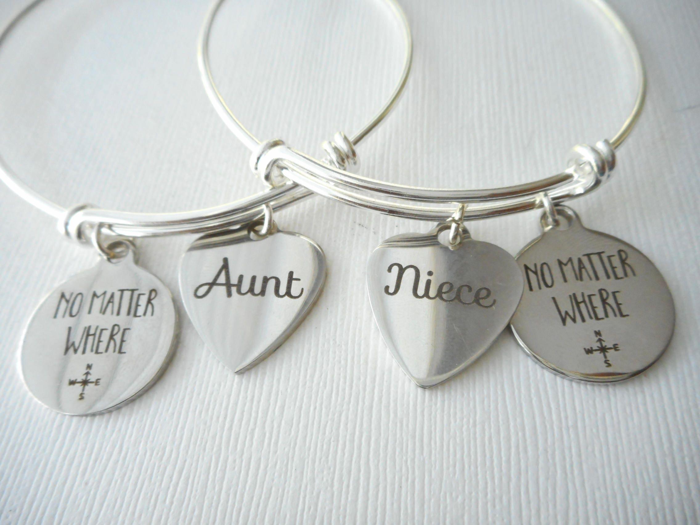 2 aunt niece friends bracelets matching niece and aunt set aunt
