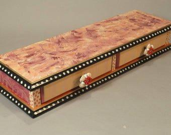 Table Top Drawers - pinks-tangerine