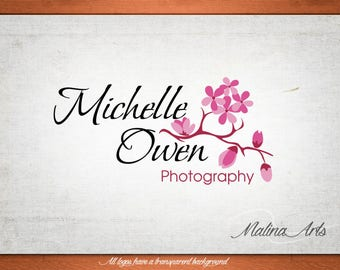 Photography logo design and watermark. Flowers logo. Custom logo BUY 2 and GET 1 FREE!!!