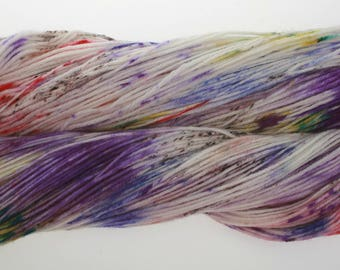 Hand Dyed Yarn 'JUMPERS and JAZZ' -  Hand dyed Merino Superwash Yarn, Wool Yarn 4 ply    100g