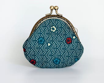 Retro Blue Coin purse