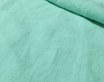 Mint Green Stone Washed 100% Linen Fabric 240gsm 150cm wide - Sold by the metre or 50cm piece
