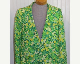 On Sale 50% OFF 70's Vintage Lilly Pulitzer Blazer Jacket Sport Coat Palm Beach Size 42