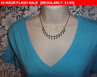 Vintage dangling  bead choker necklace