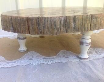 Wedding cake stand / rustic cake stand /log cake stand /cake stand /pedastool cake stand