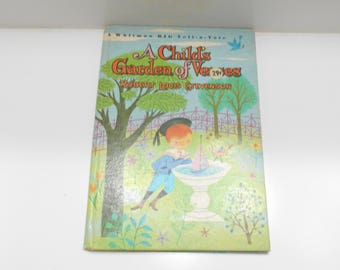 Vintage 1965 Copyright (20) A Child's Garden Of Verses by Robert Louis Stevenson, Whitman Big Tell-A-Tale