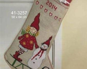 """Scandinavian Christmas Stocking Kit - Counted Cross Stitch Kit - 23"""" x 33"""""""