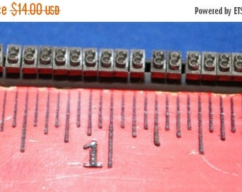 ON SALE Rack of 61 Metal Number 3 Three Type from a Vintage Hand Set Printing Press 1940s