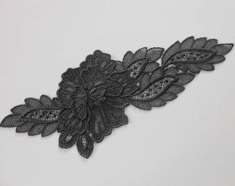 Large applique lace 24 x 9.5 cm