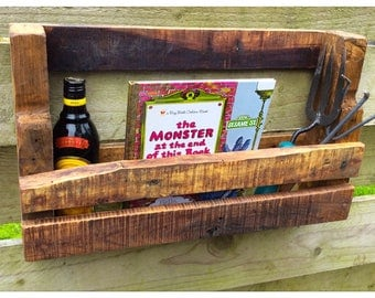 Rustic Reclaimed Wood Wall Shelf Rack Country