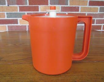 Vintage Orange Tupperware Pitcher