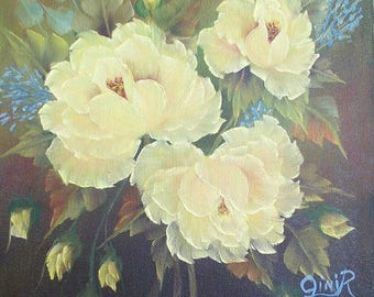 Floral Oil Painting - Yellow Roses