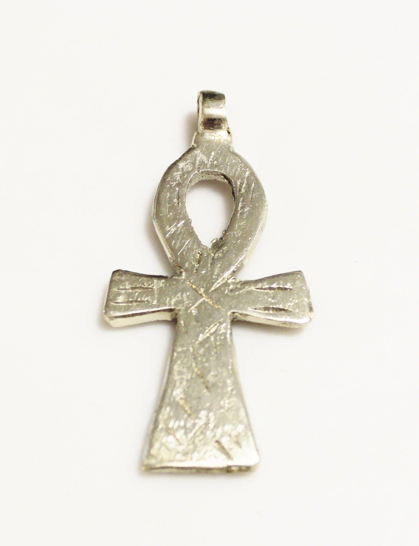 Silver ethiopian ankh cross pendant key of life symbol pendant sold by colorsquare buycottarizona Images