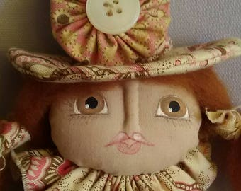 One of a kind - hand made soft doll